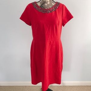 Talbots Red Sequin Dress 14 petite new with tags